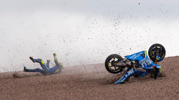 Dura caída de Iannone en Sachsenring