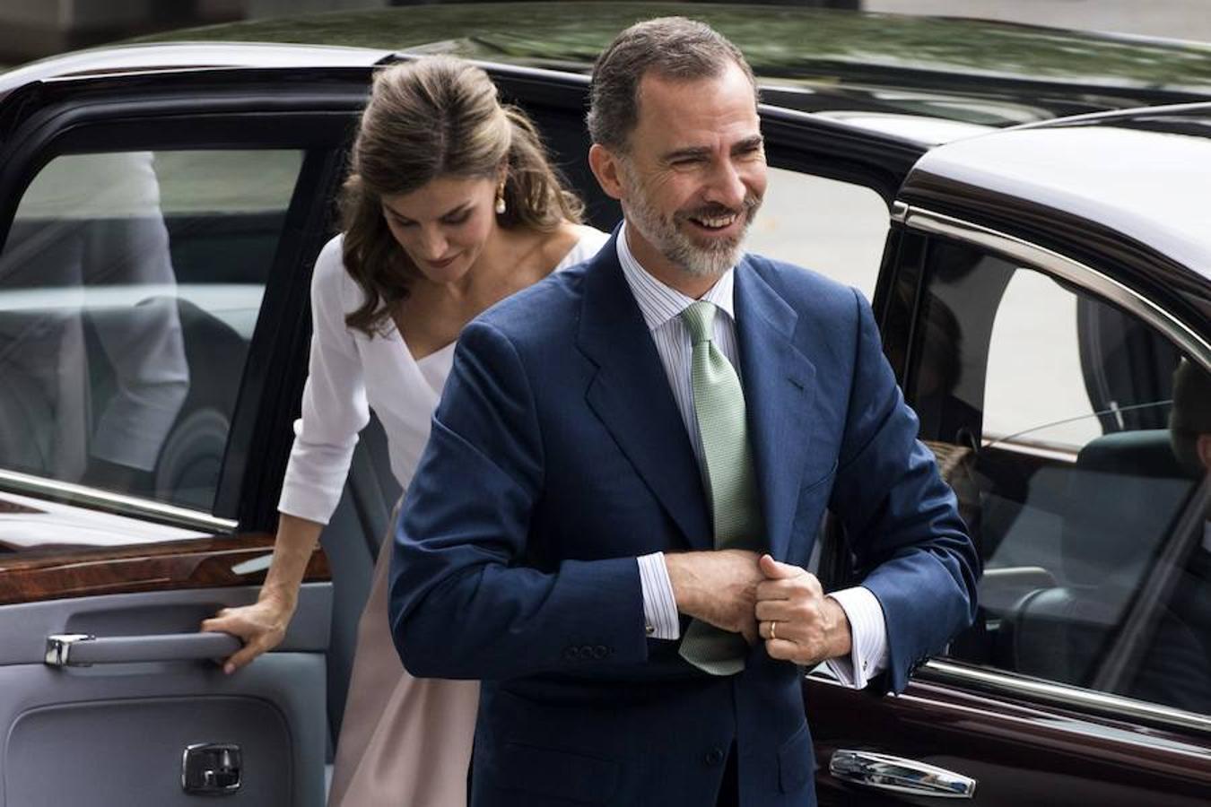 El Rey Felipe VI de y su esposa, la Reina Letizia, en su último día de visita oficial en Londres