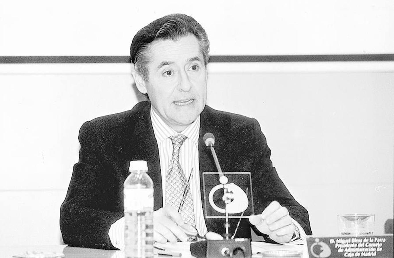 Miguel Blesa en una comparecencia