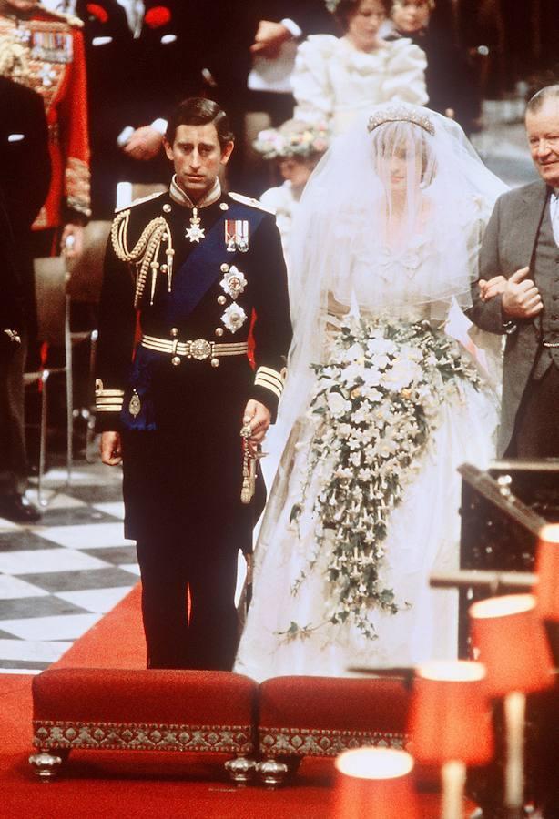 Durante su boda en Westminster