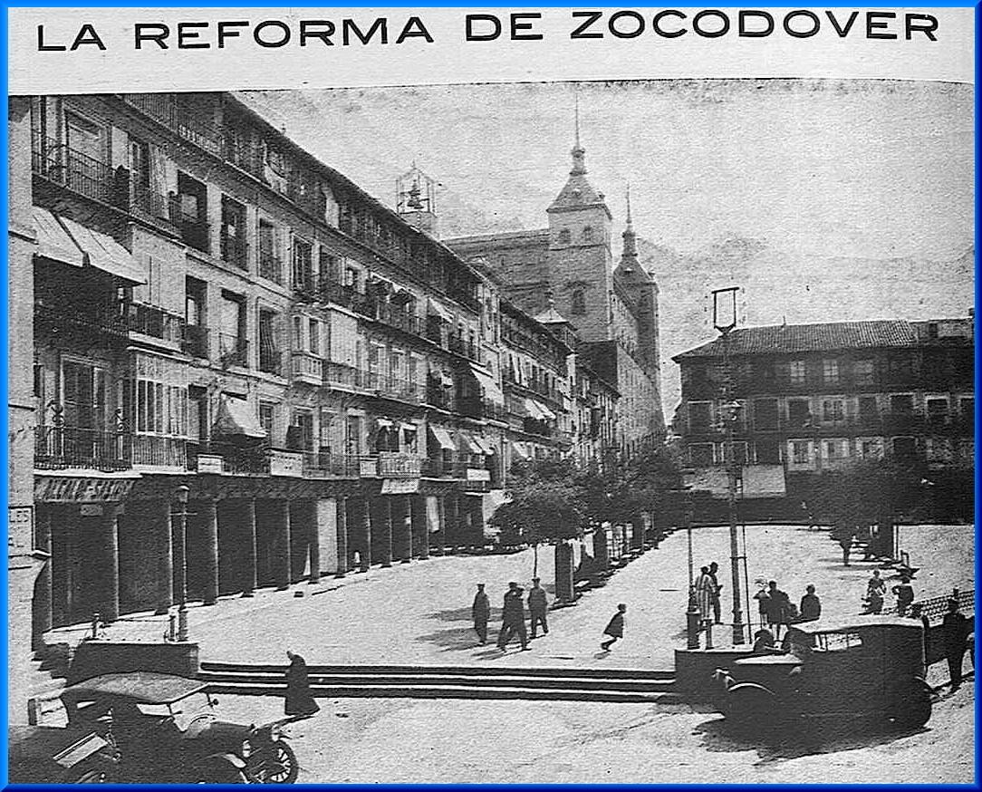 Reportaje en la revista Toledo (agosto de 1925) sobre el nuevo cambio en Zocodover que mantenía la misma forma desde 1865