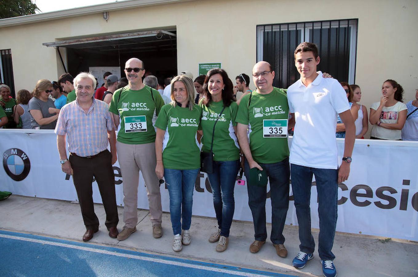 El concejal de Deportes, Juan José Pérez del Pino; la alcaldesa de Toledo, Milagros Tolón; la presidenta de la Asociación en Toledo,  Lucía Rodríguez, o el atleta Lucas Búa, entre otros, se sumaron a esta iniciativa
