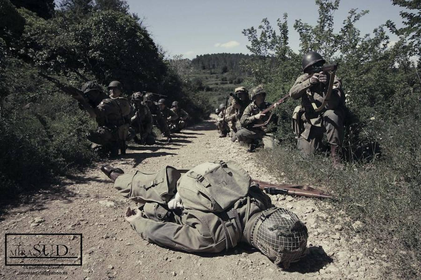 Lo hizo con una sesión de fotografías históricas que buscaban recrear la famosa batalla