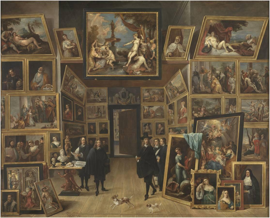 «El archiduque Leopoldo Guillermo en su galería de pinturas en Bruselas», de David Teniers (1647-51)