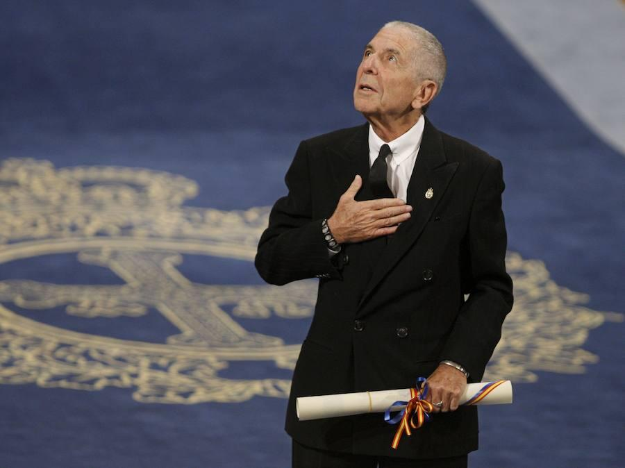 Agradeciendo el Príncipe de Asturias de la Letras en 2011