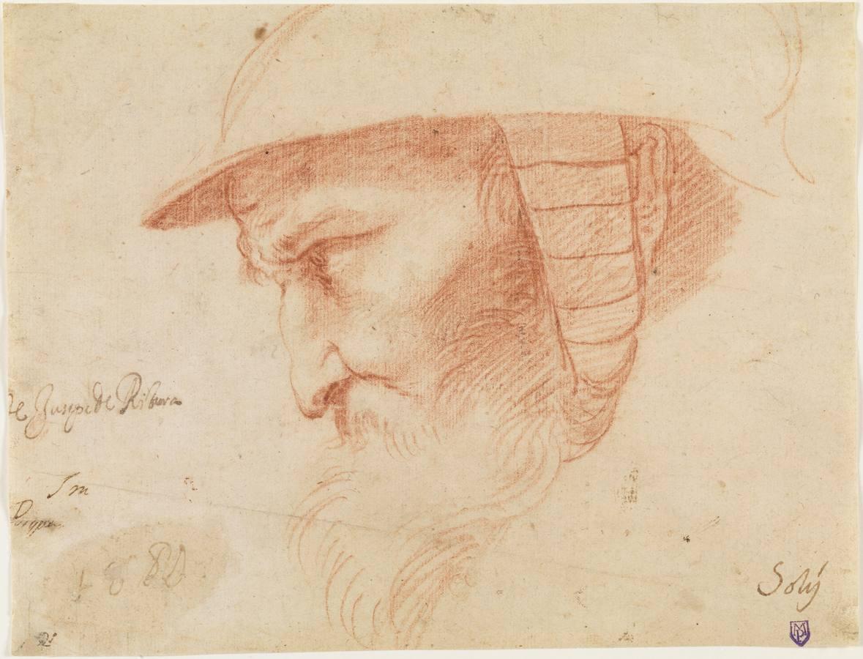 «Cabeza de guerrero», de José de Ribera. Sanguina, primera mitad de 1610