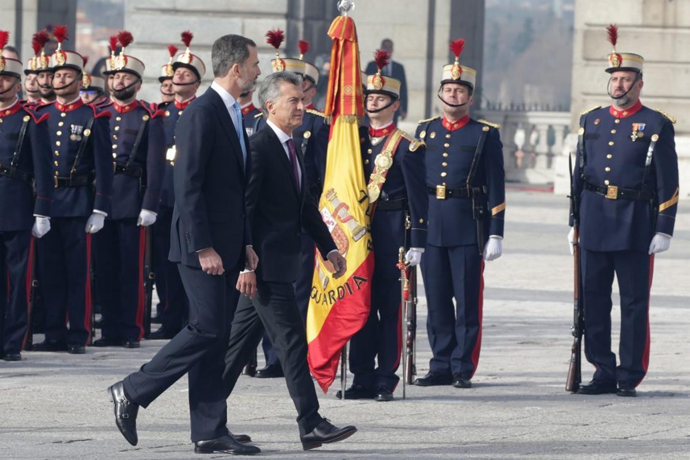 El Rey Felipe VI junto a Mauricio Macri en Madrid