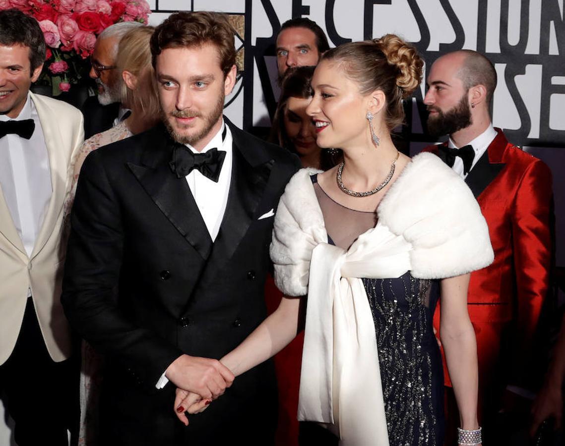 Pierre Casiraghi y su mujer, Beatriz, a su llegada