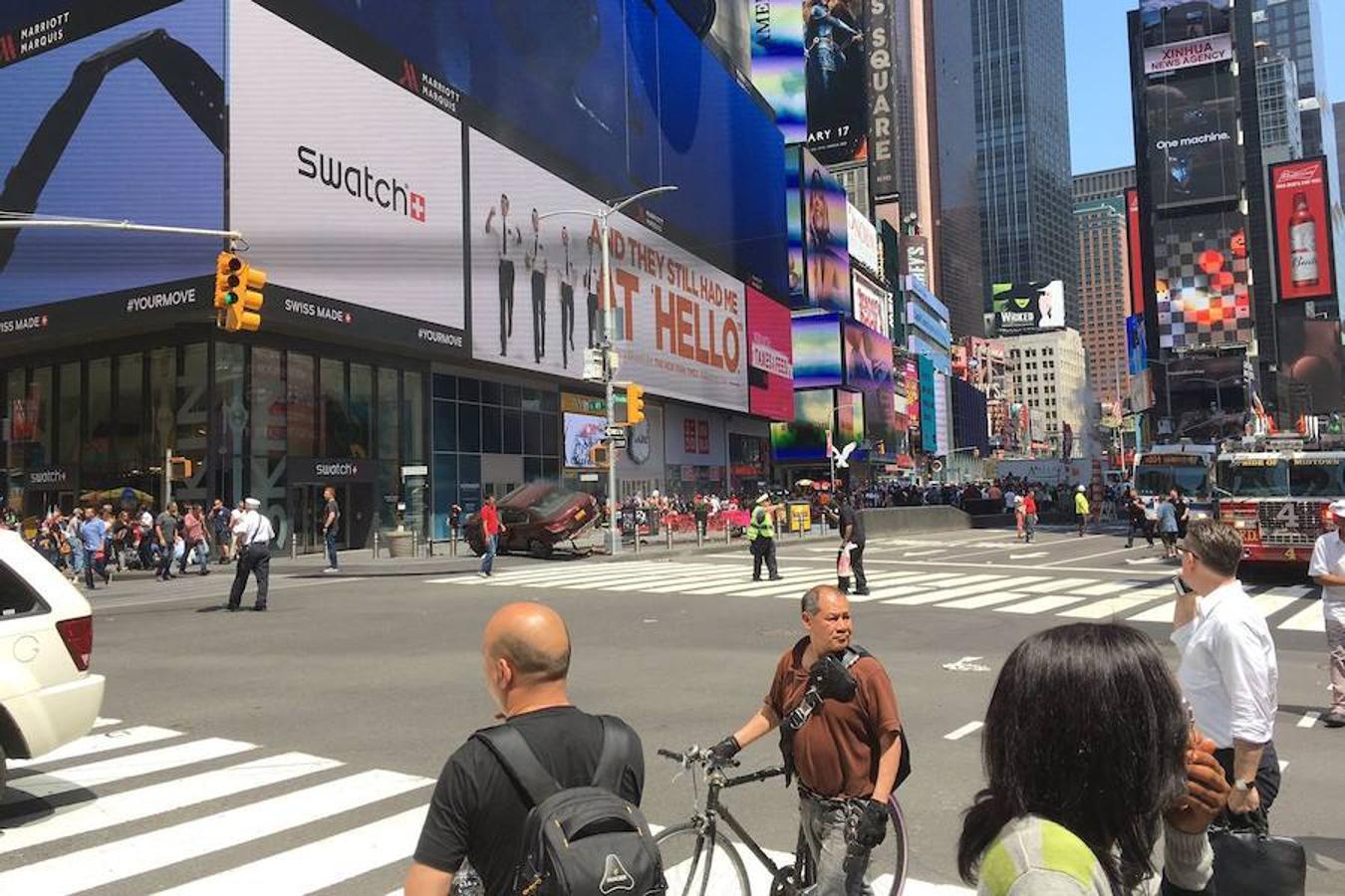 Las imágenes que deja el atropello múltiple en Nueva York
