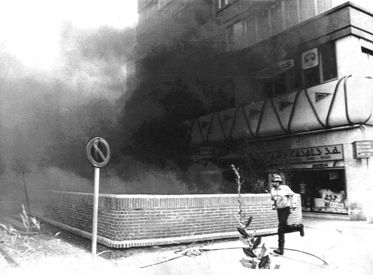 Humo tras la explosión de la bomba de ETA
