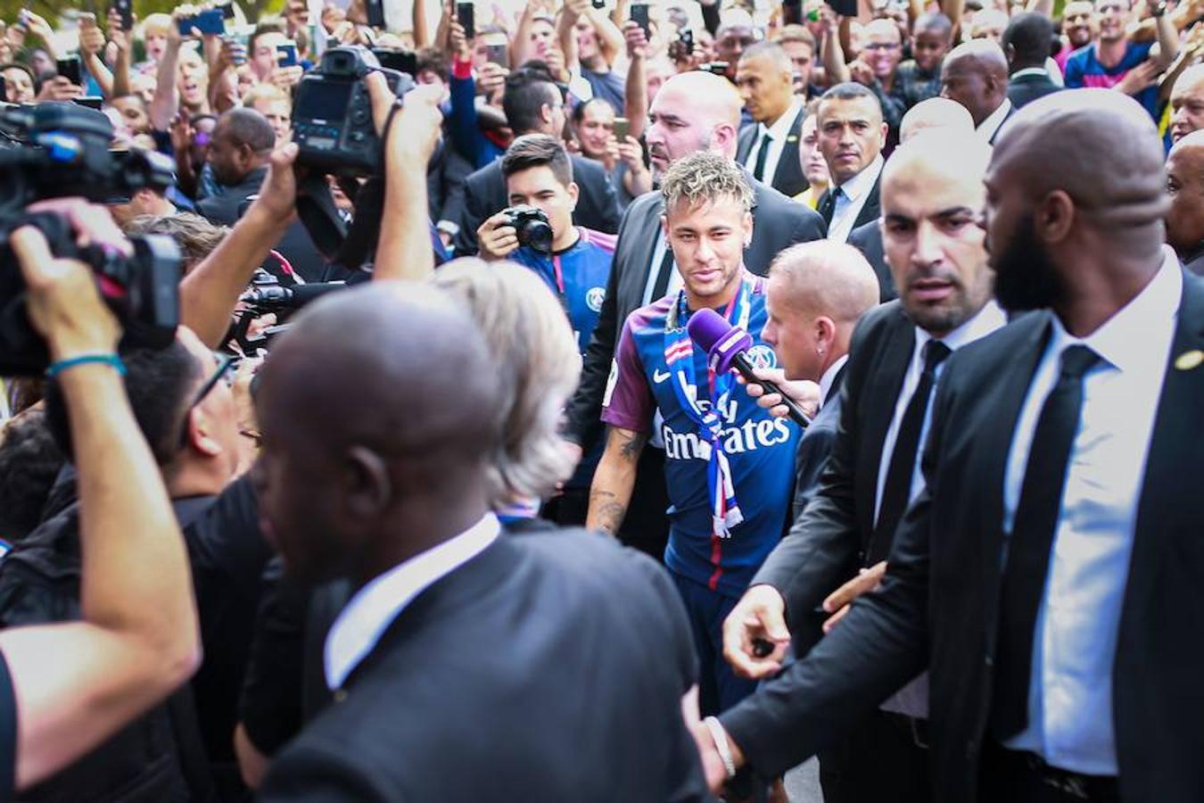 La atención ha sido máxima con la llegada de Neymar
