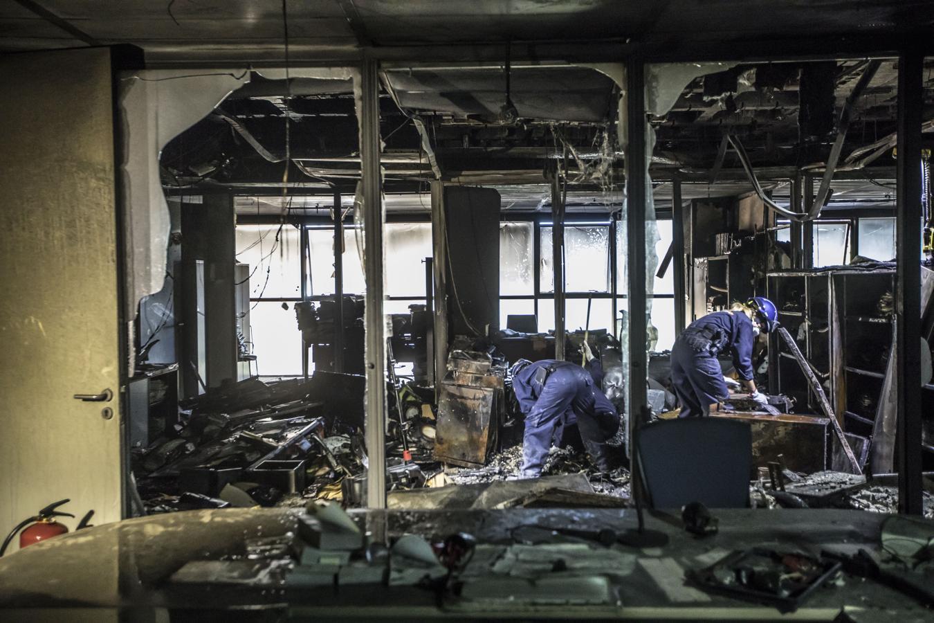 La Ciudad de la Justicia de Valencia tras el incendio