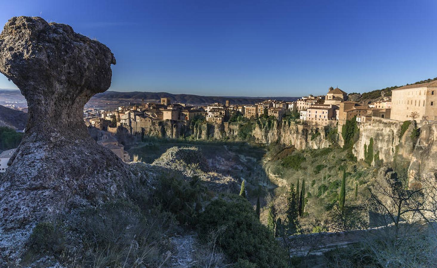 Vista panorámica del casco histórico de Cuenca