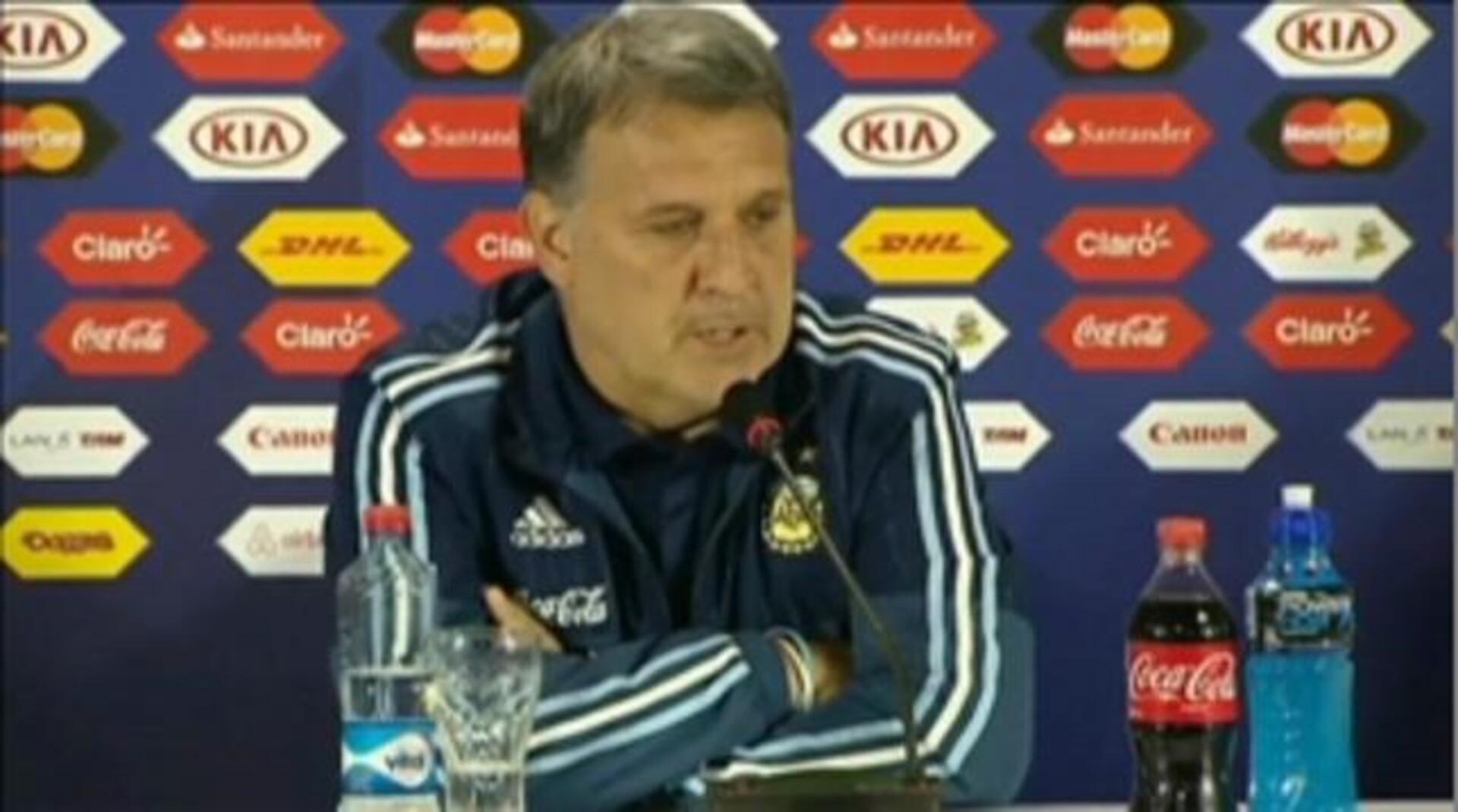 """Martino: """"Tenemos la expectativa de poder convertir las ocasiones el próximo partido"""""""