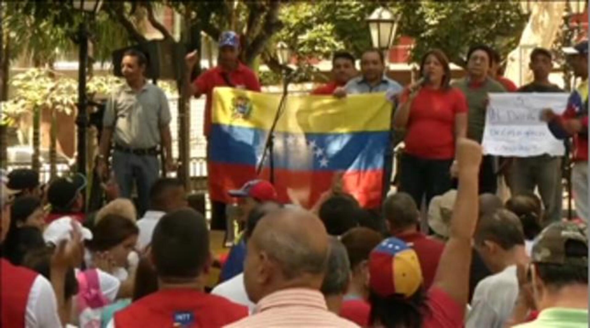 Manifestaciones en Venezuela a favor y en contra del gobierno de Maduro