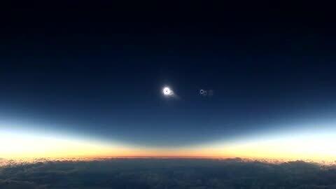 Eclipse solar astrónomo emocionado