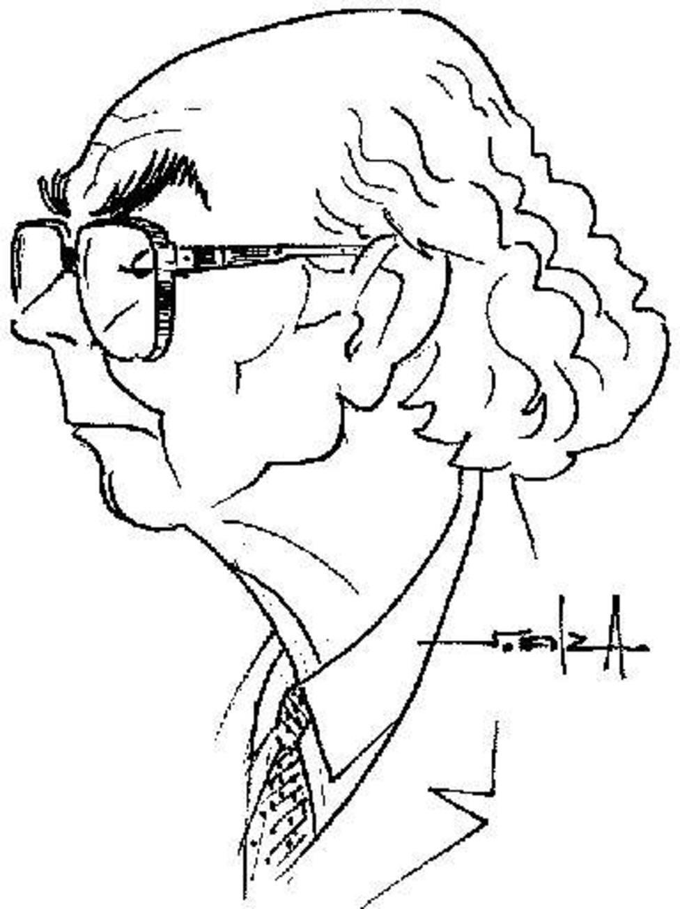 José Saramago, por Santiago Almarza.