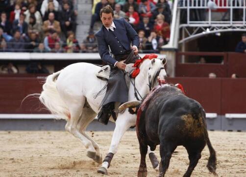 12/05/2010.- El rejoneador Andy Cartagena con su primero