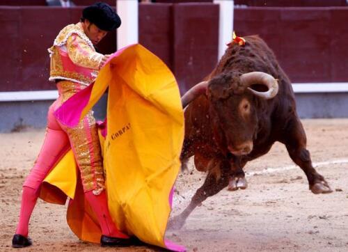 28/05/2010.- El diestro Francisco Javier Corpas en los primeros lances con el capote a su segundo toro