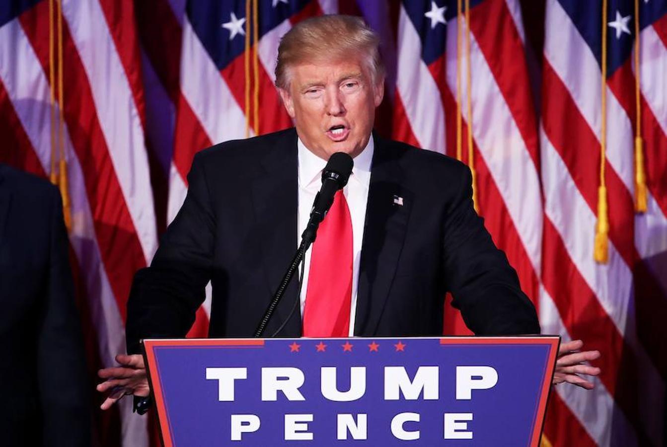 Trump ha hablado ante los cientos de seguidores que aún aguardaban en el Hotel Hilton