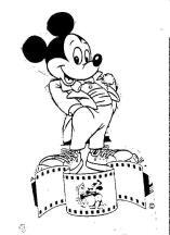 Boceto de Mickey Mouse, que nació en 1928 de la mente de Walt Disney, quien lo dibujó mientras viajaba en tren