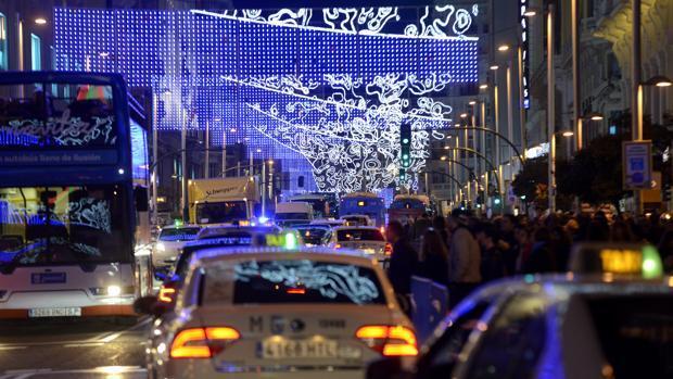 En imágenes: el corte al tráfico de la Gran Vía de Madrid