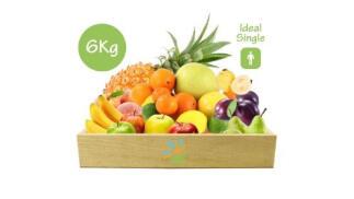 Cesta de frutas y verduras ecológicas