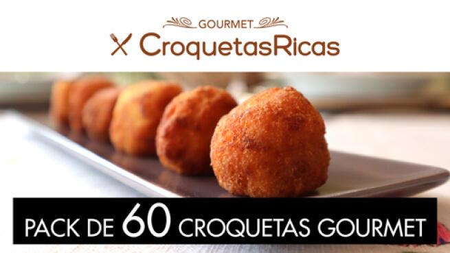 Pack de 60 croquetas gourmet congeladas con envío a domicilio