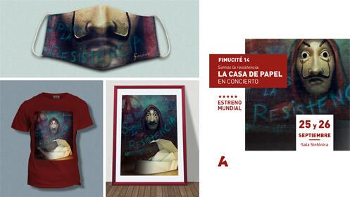Pack merchandising + Invitación doble concierto La Casa de Papel
