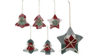 3 o 6 adornos navideños Christmas Bell