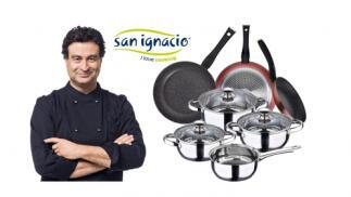 Batería de cocina 7 piezas + set 3 sartenes San Ignacio