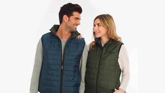 Chaleco impermeable reversible