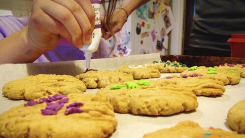 Taller para niños de decoración de galletas