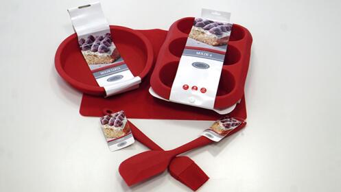 Moldes y utensilios de cocina de silicona