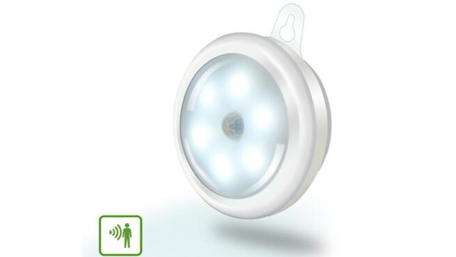 Luz LED de armario con sensor de movimiento con batería 0,5 W