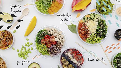 Mahalo Poké. Comida saludable en Nervión