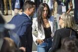 El astro del fútbol acudió a la ceremonia acompañado por su novia, la española Georgina Rodríguez, su hijo y su madre