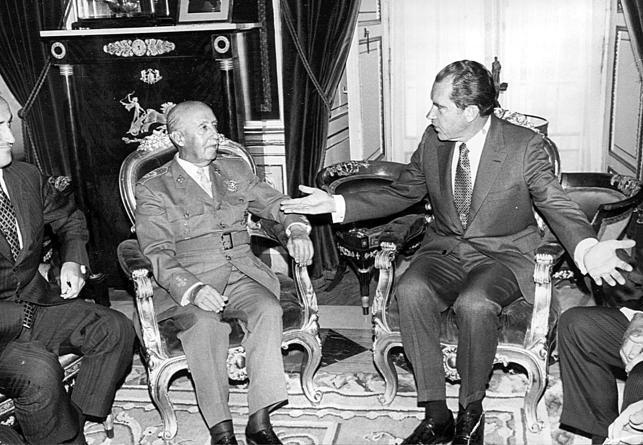Francisco Franco y Richard Nixon
