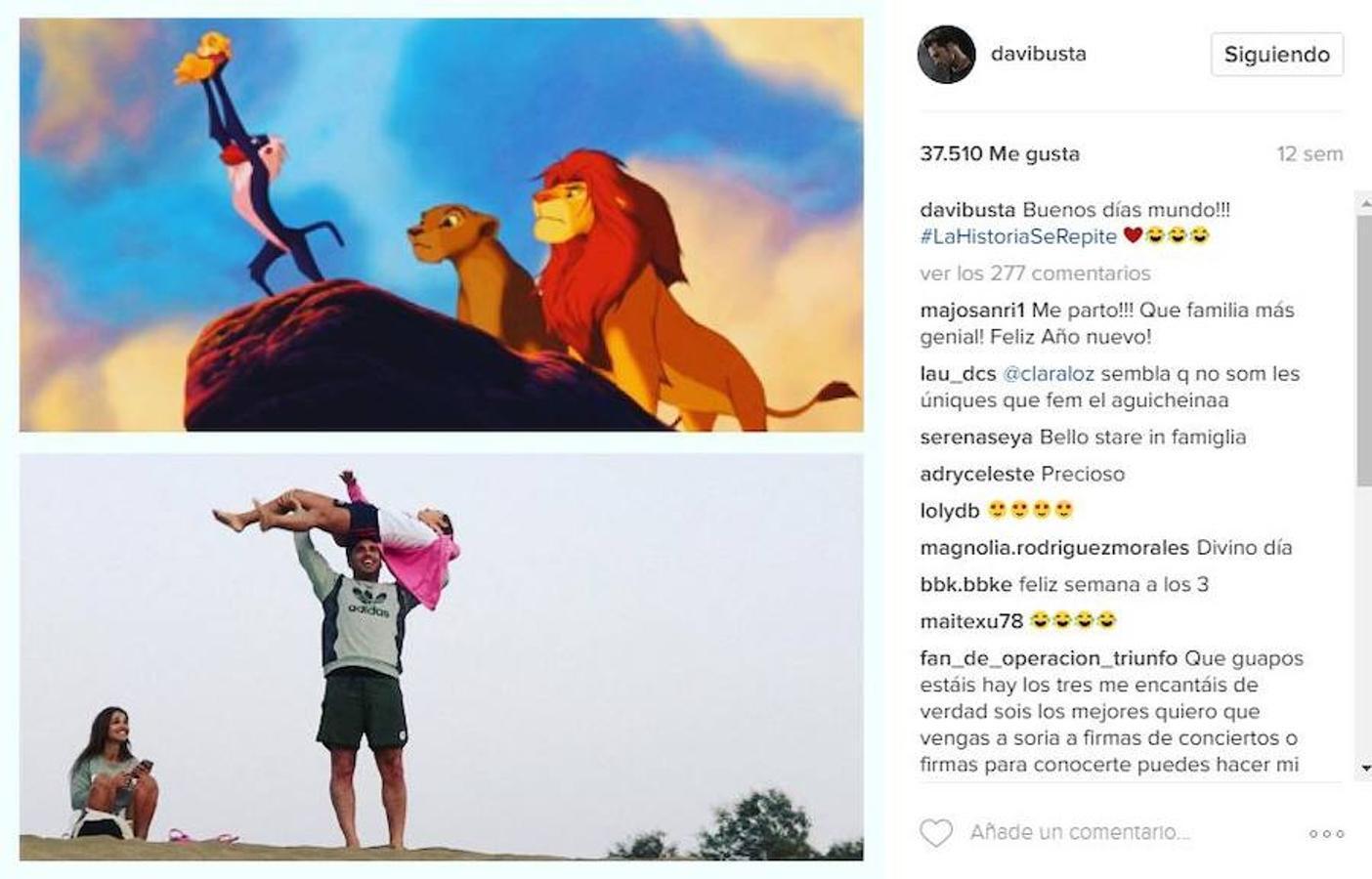 Por su parte, el cantante también quiso alardear de sus vacaciones en familia a través de su perfil de Instagram
